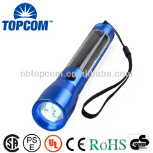Alumínio 4led Ni-MH bateria lanterna solar