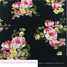 Floral Printed Rayon Fabric for Girls Dress/Skirt