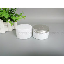 Weißes Haustier-Plastikverpackungs-Glas mit Plastik- und Aluminiumkappe (PPC-75)