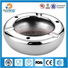 mignon round shape manual stainless steel ashtray