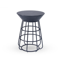 Outdoor leisure round stainless steel side table