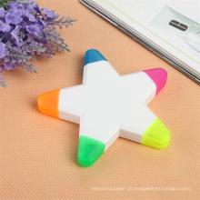 5 Cores Star Shaped Marcador Caneta Marcador para Presente