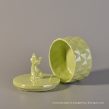 Glazing Ceramic Candle Jar with Lids
