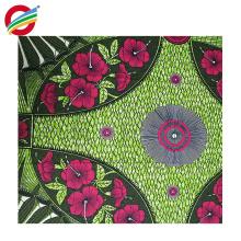 El paño africano colorido de la cera del poliéster puro imprime la tela para la venta