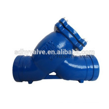 DN65PN16 groove end Y strainer