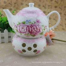 Set de té chino de porcelana esmaltado de diferentes formas disponibles