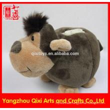 Factory china animal shaped monkey money box plush toy monkey coin bank animal money box