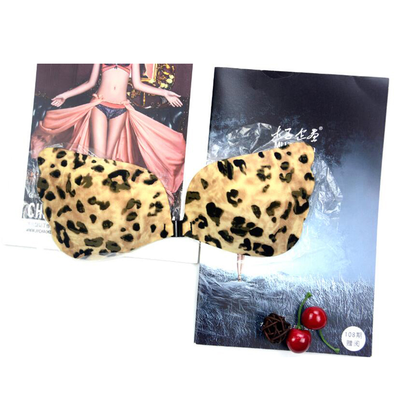 Leopard Print Backless Strapless Padded Push Up Bra (3)