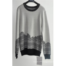Long Sleeve Patterned Knitted Men Sweaters