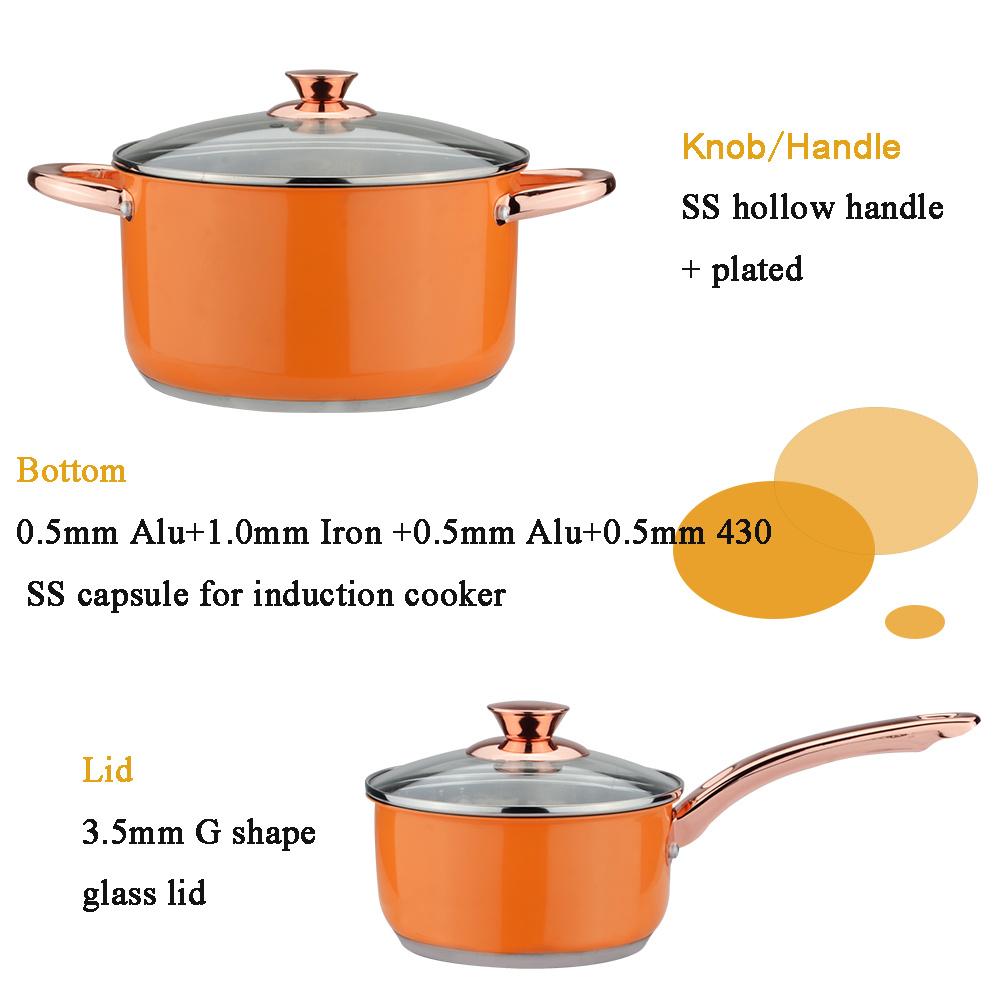Rose Gold Handle Soup pot