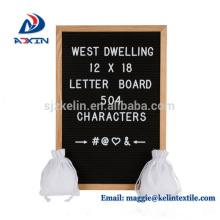 Custom Design 12 x 18 Zoll Filz Brief Display Board mit Eiche Rahmen