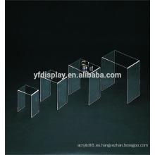 Estante de exhibición de acrílico transparente con diseño personalizado