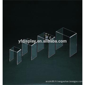 Présentoir acrylique transparent avec Design personnalisé