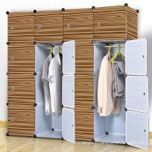 Brown Wood Design Armoires pliants en plastique pour maison (ZH003-1)