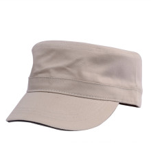 Adjustable without eyelet baseball sandwich cotton twill fitted army cap flat top military cap