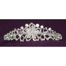 High Quality Charming New Designed Custom Crystal Crowns Wedding Tiara
