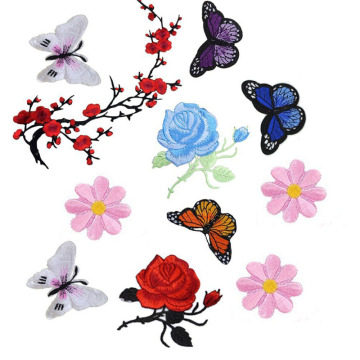 Flowers Embroidery Applique Patches Used for Clothing