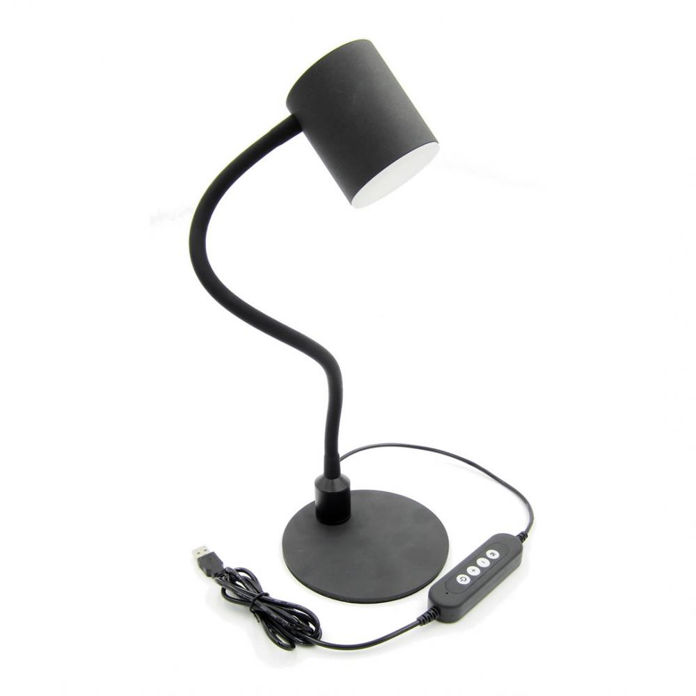 Black LED desk lamp with remote control