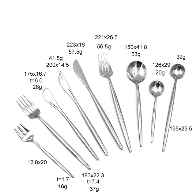 High Quality 9-pieces Cast Stainless Steel Flatware Sets
