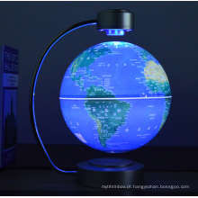Globo mundial magnético de mesa flutuante e giratório