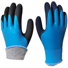 -50 Degree Cold Resistant Polyester Acrylic Double Lined Latex Coated Best Waterproof Winter Work Gloves