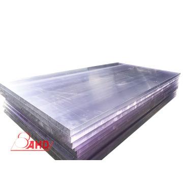 Comercio al por mayor de plástico negro transparente PC Hoja de laminado sólido