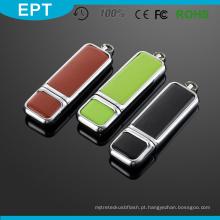 Couro 16 GB USB Flash Drive com alta velocidade para amostra grátis