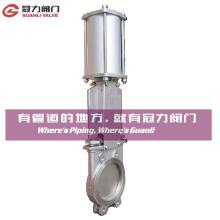 Aço inoxidável faca válvula de portão para a indústria de tratamento de água