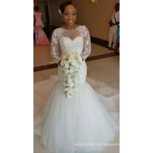 Long Sleeve Mermaid Lace Wedding Dress