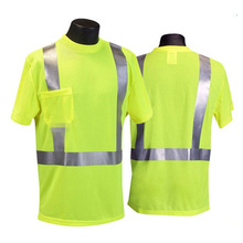 Reflective Safety T-Shirt with Pocket for Workers