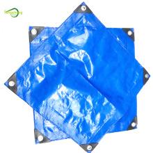 Bâche PE imperméable bleue de film renforcé tissé de 150g
