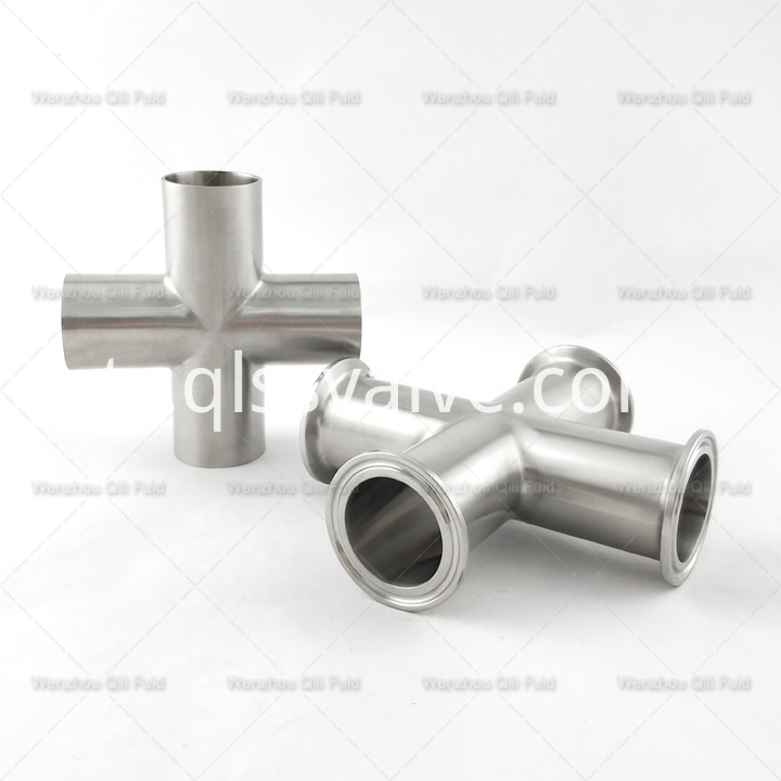 Sanitary pipe fittings Cross x15