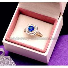 Moda vidro pedra Gemstone anéis de casamento