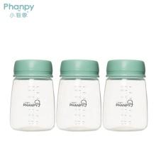 Bouteilles de stockage de lait maternel en PP 200 ml - Trois dans une boîte