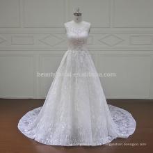 XF16049A molina verdadero encaje dos piezas de vestidos de novia 2017