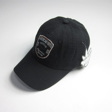 Mens svart Patch sport Cap med Badge