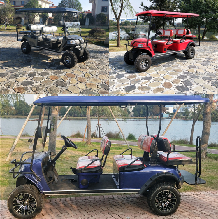 4 2 Seaters Off Road Golf Carts