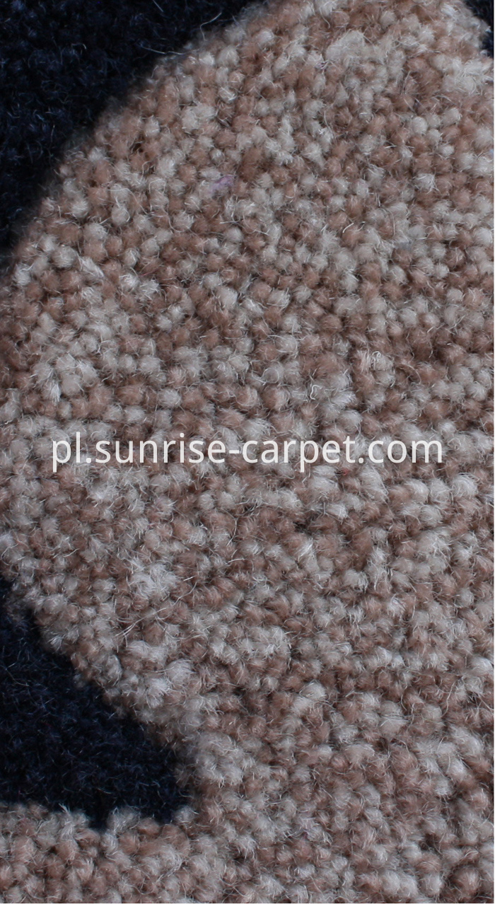 Polyester Hand Tufted Carpet with color mix yarn