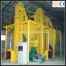Directamente en fábrica 500-800kg / h Línea completa de producción de pellets de madera o forraje