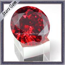 Высокое качество Китай Красный блестящий кубический цирконий Cut