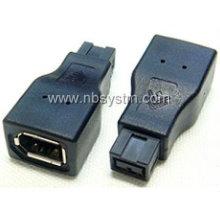 Firewire 1394 9P Stecker auf 6P Buchse Adapter