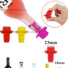 Rolhas de vidro personalizadas da tomada da borracha de silicone do produto comestível da garrafa de vinho