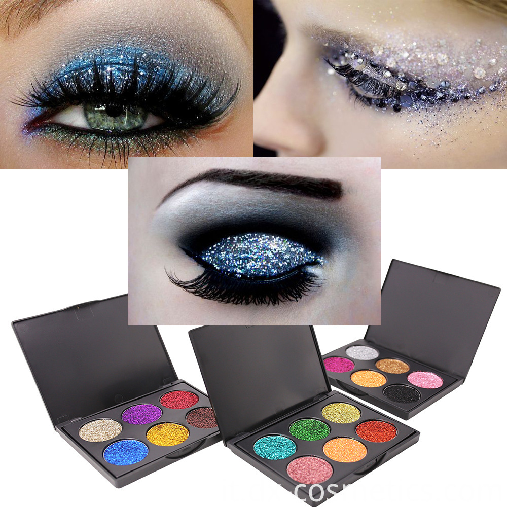 6 Colors beauty Gligger Eye Shadow 6
