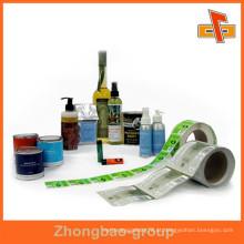 Envoltório plástico da etiqueta do Shrink do calor para o Haircare / Skincare / loção do corpo / bebida / bebida / garrafa de vinho