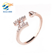 AAA level zirconia diamonds wholesale jewelry twelve constellations lucky Gemini ring