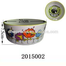 Tazón de cerámica del animal doméstico de la venta caliente