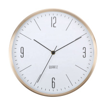 12 Inch Round Elegant Home Decoration Aluminum Wall Clock modern