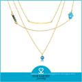 Cadenas de joyería europeas calientes de la gota del metal (N-0295)