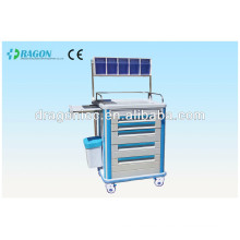 DW-AC218 hospital linen carts medical trolley hospital cart stainless steel trolley cart for hot sale