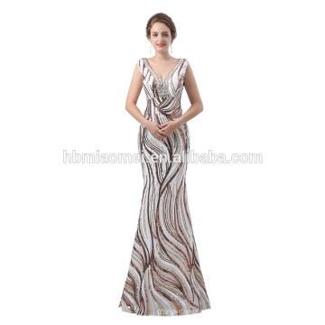 2018 длинная дизайн сшитое длина пола блестками элегантный вечернее платье